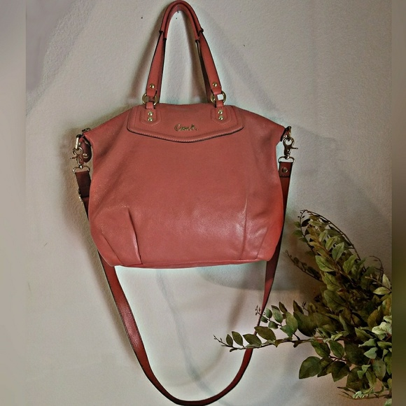 Coach Bags   Ashley Leather Satchel Tea Rose Coral   Poshmark 17ab467abd